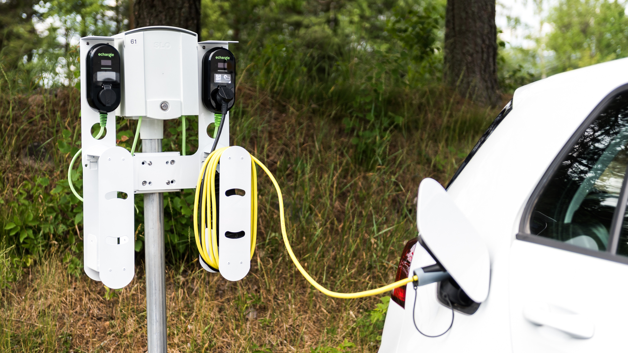 eChargie can be installed to any public or semi-public power plug and used to charge electric cars, bikes, scooters, even laptops and smartphones.