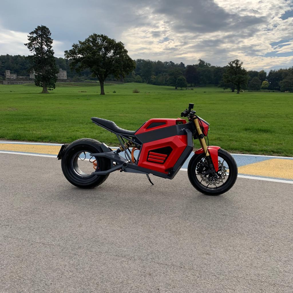 The first prototype of the Finnish E2 electric motorbike was revealed in Helsinki in early 2019. The bike has a hubless design and an integrated rim motor.