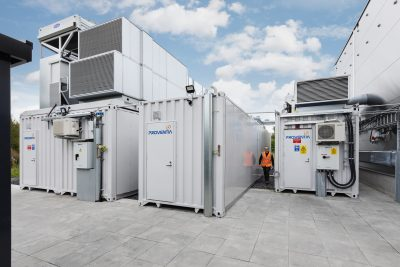 Modular test laboratories are simple to locate outside the building and quick to deploy