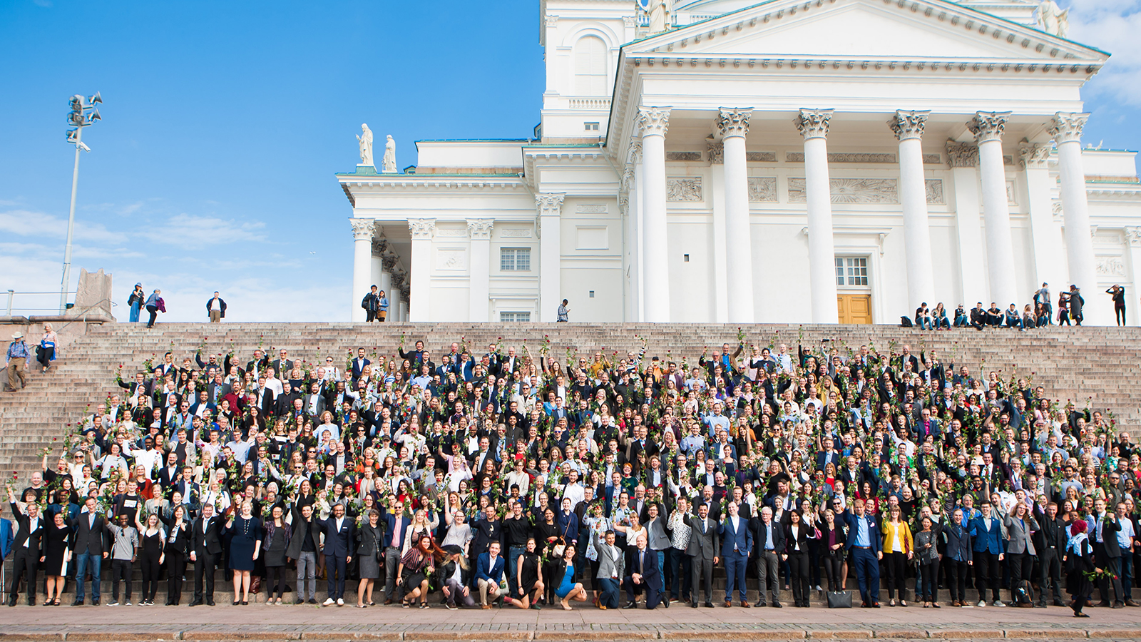 Pictured are the course graduates in Helsinki 2018.