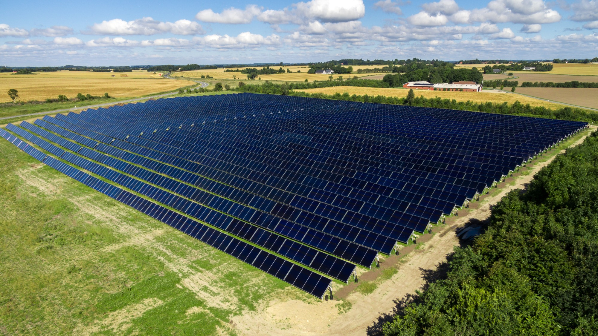 A solar thermal energy field
