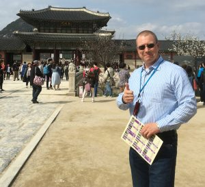Man thumbs up in China