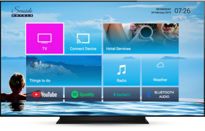 A TV interface that is both functional and slick can enhance the stay of hotel guests significantly.