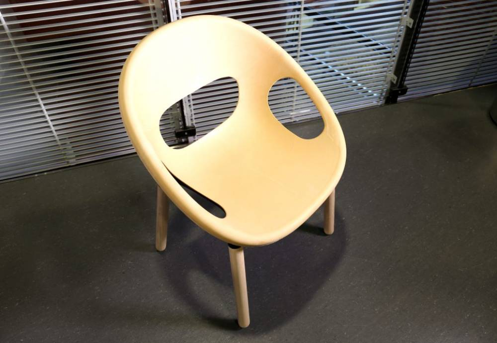 chair made from plastic substitute
