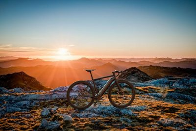 bike and sunset