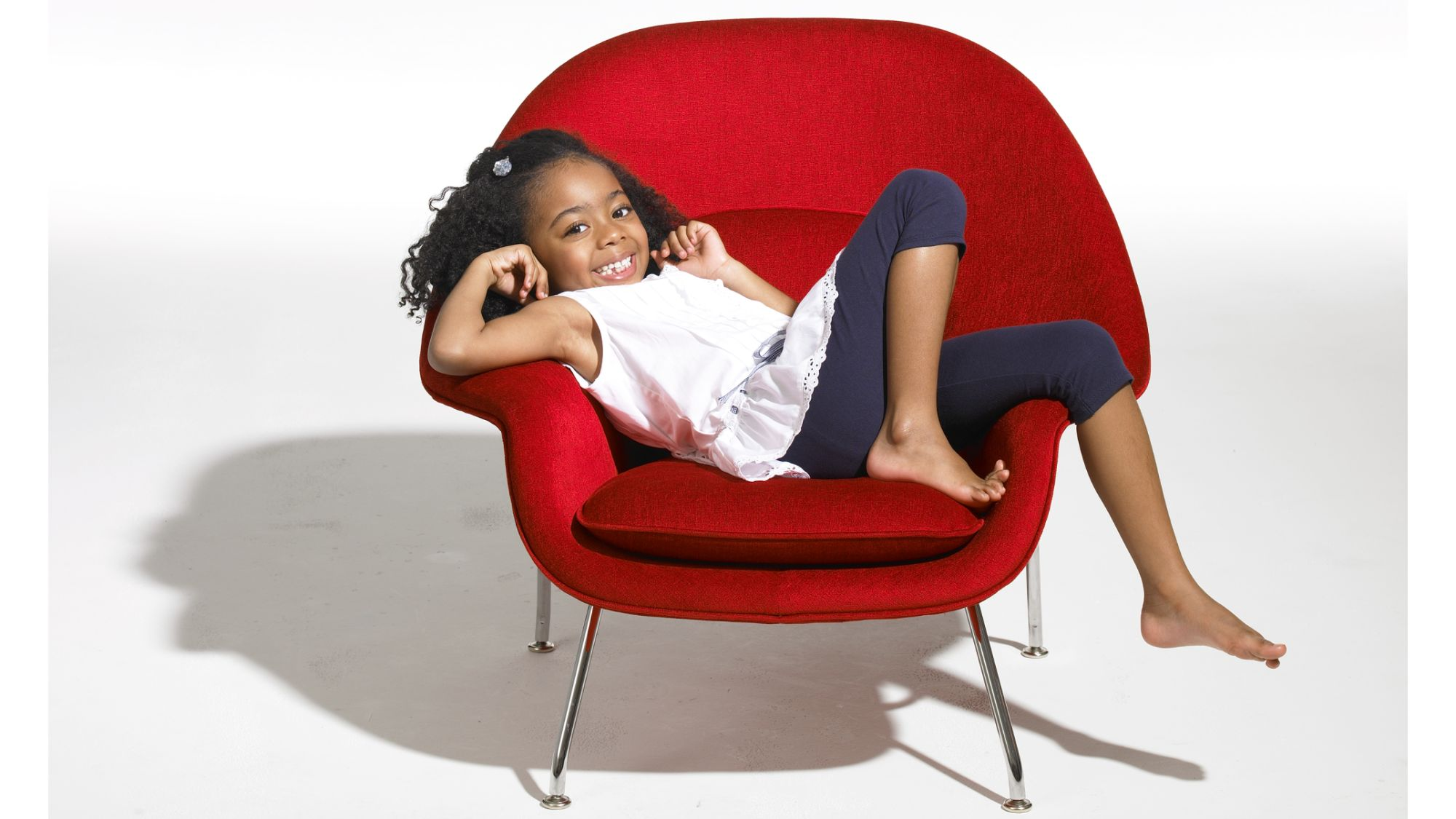 a child on a chair