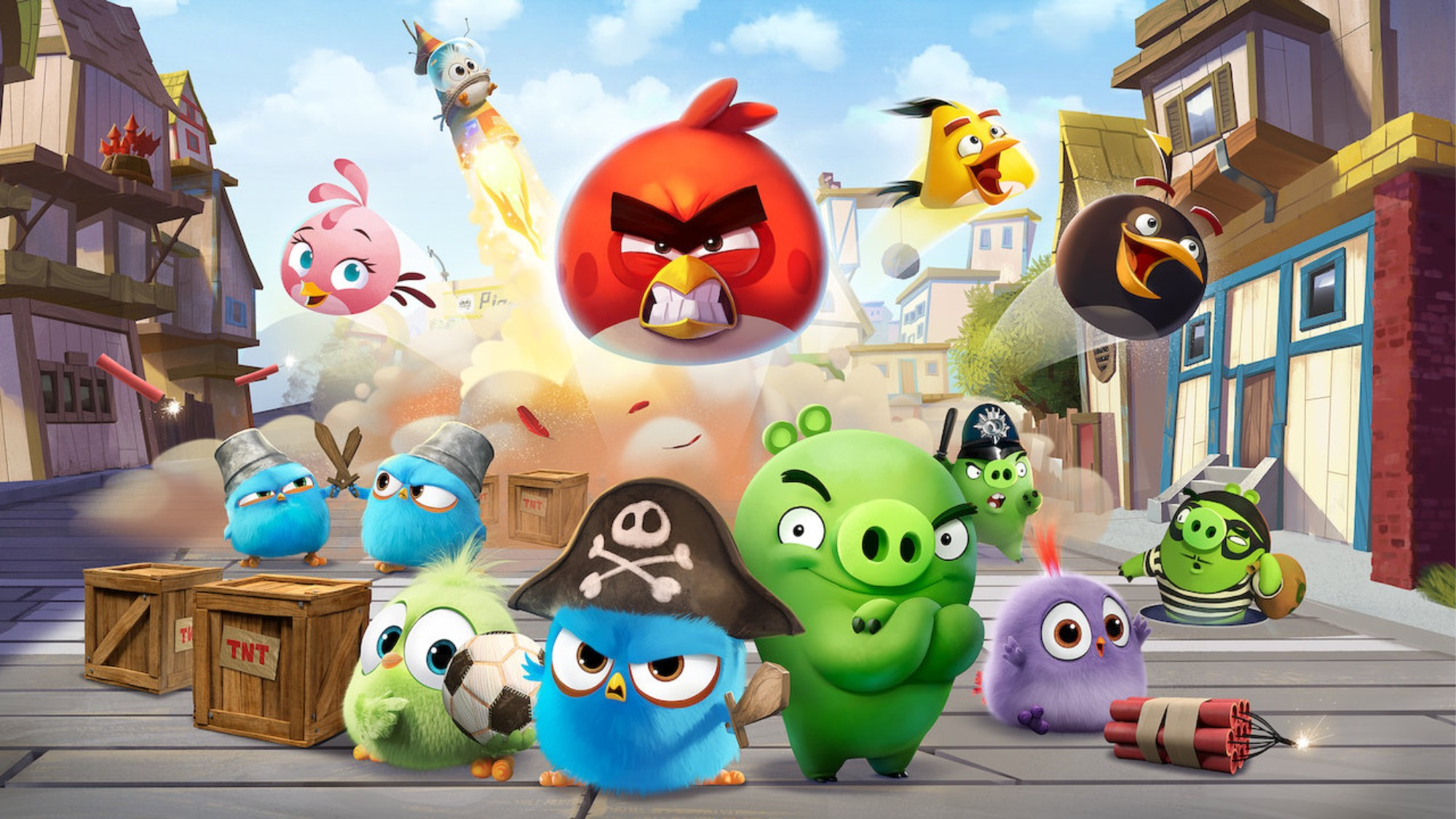 An illustration of the Angry Birds