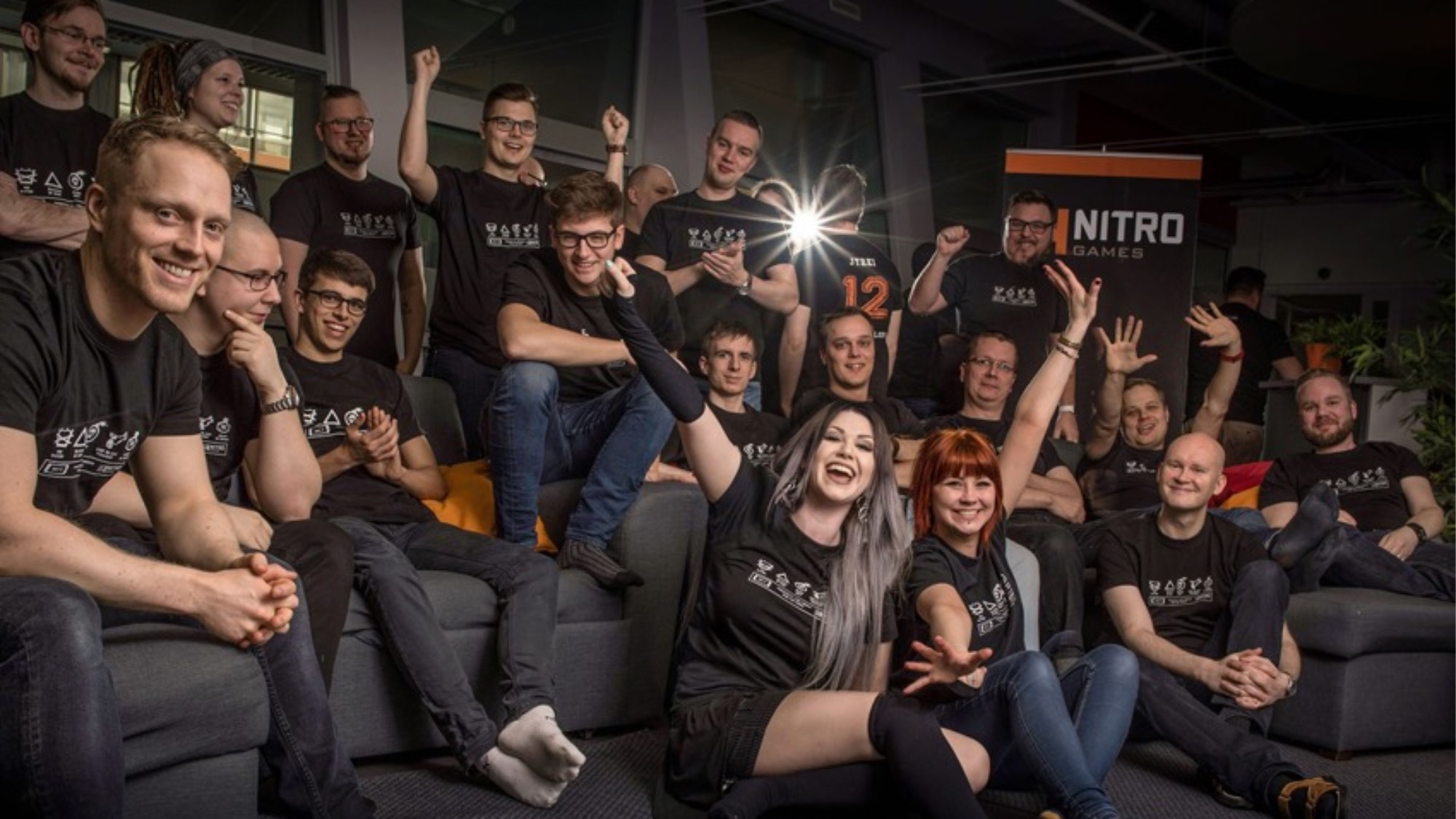 Nitro Games staff cheering