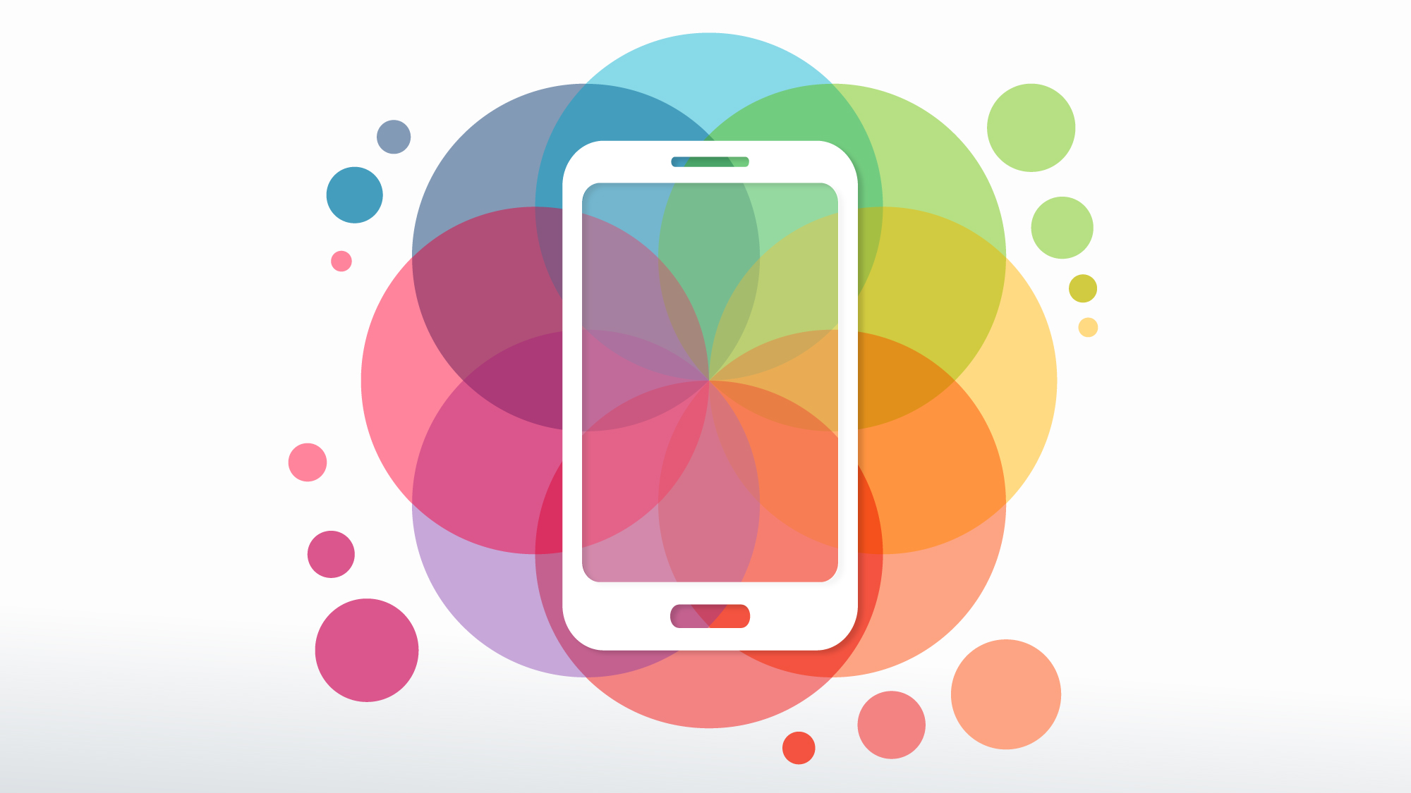 phone with colourful background