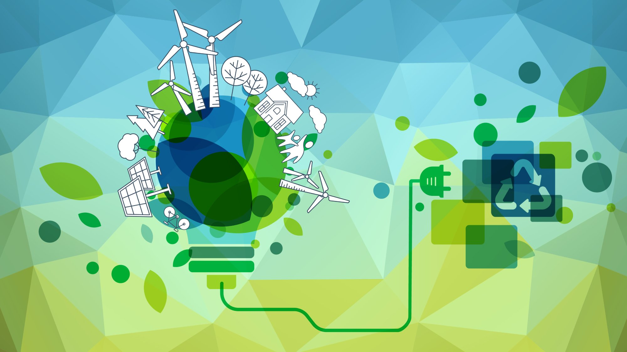 illustration of cleantech environment