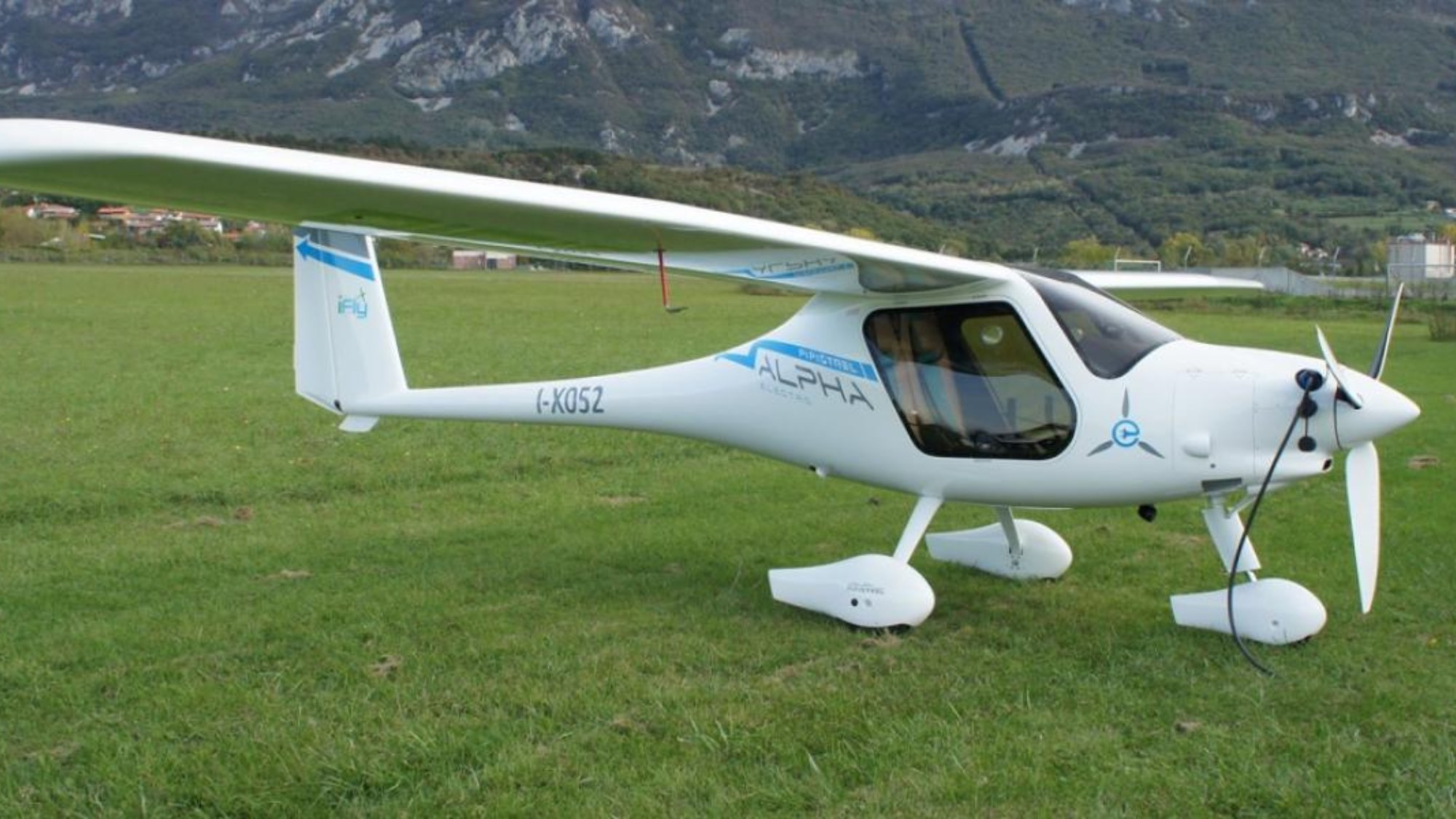 Small plane on grass
