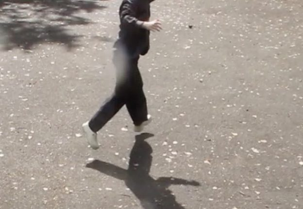 person running