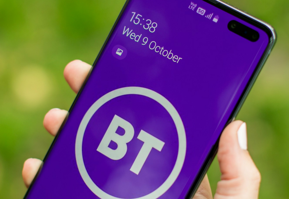 Phone with BT logo on the screen.