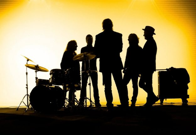 silhouette of a band