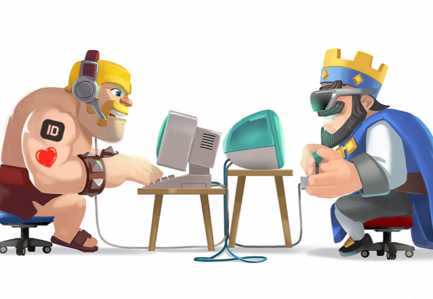 animated characters playing computers