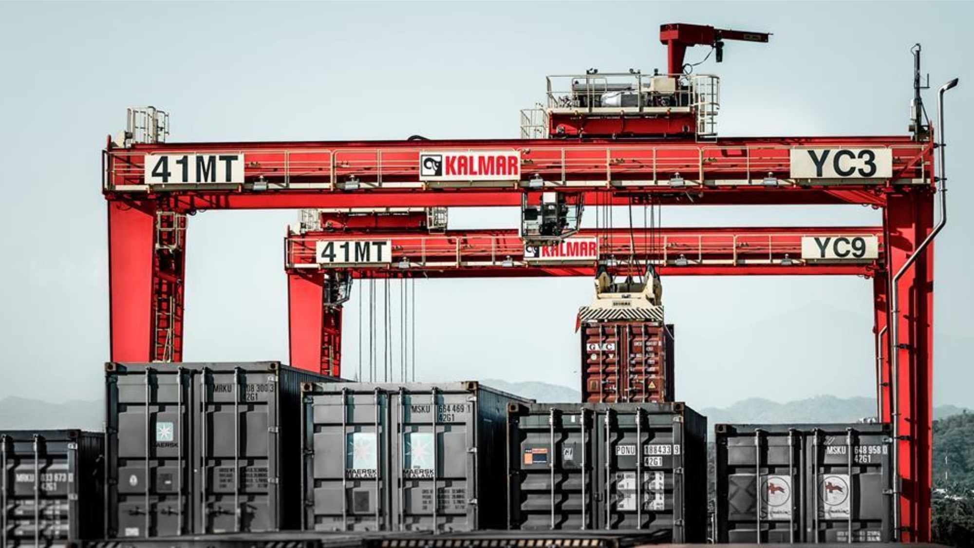 Cranes and containers