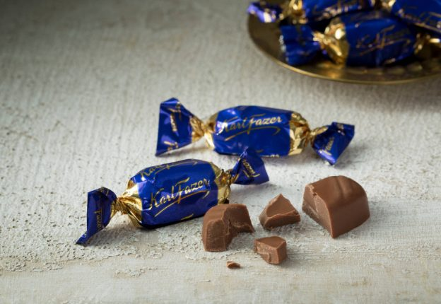 Finnish chocolate on table