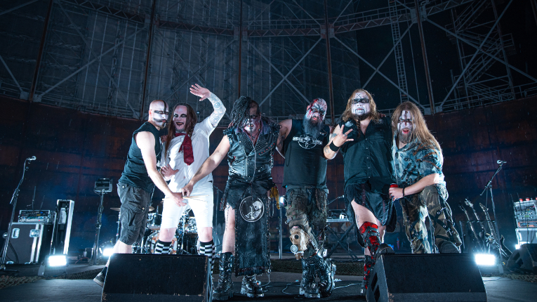 Heavy metal band on stage