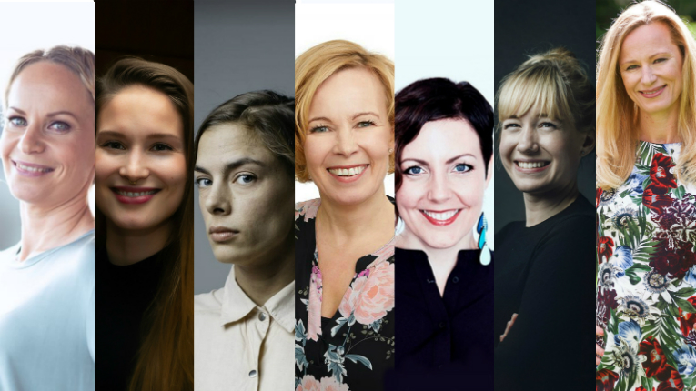collage of women entrepreneurs