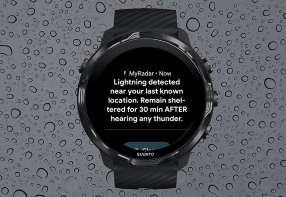 Sports watch with weather information
