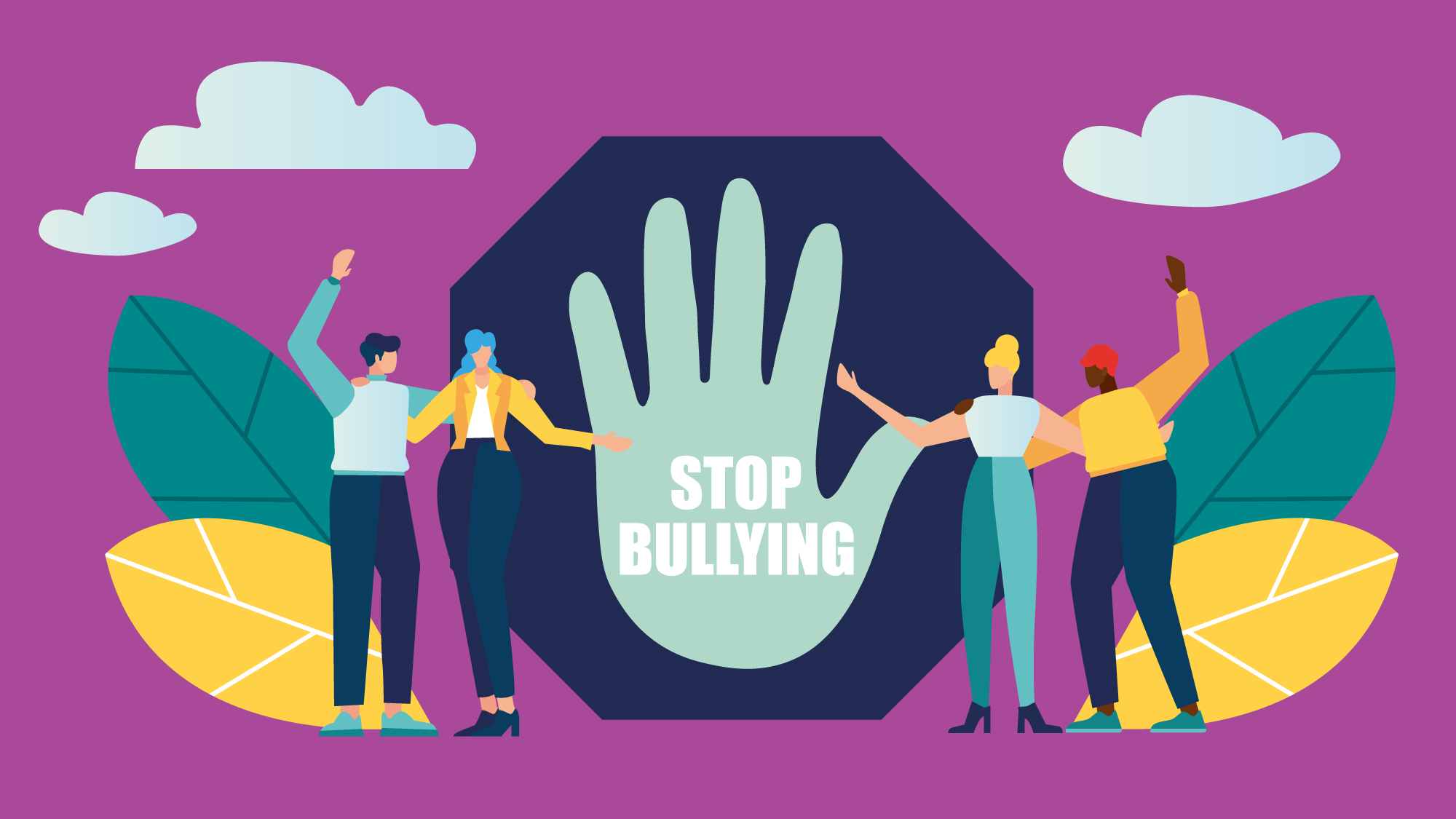 illustration representing stopping bullying