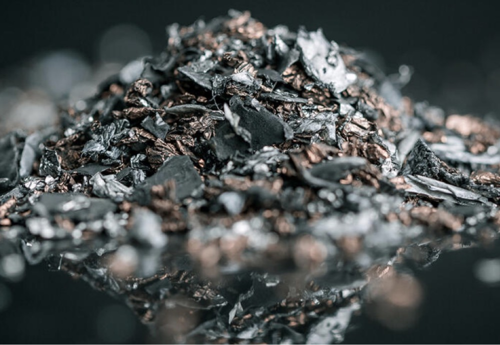 Metals extracted from used batteries