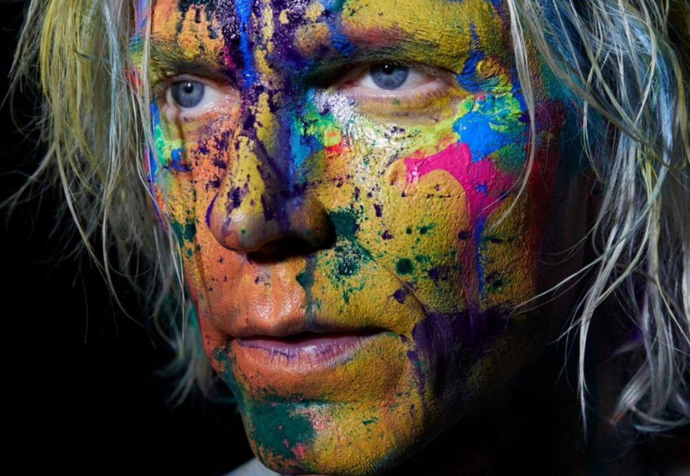 man with paint on his face