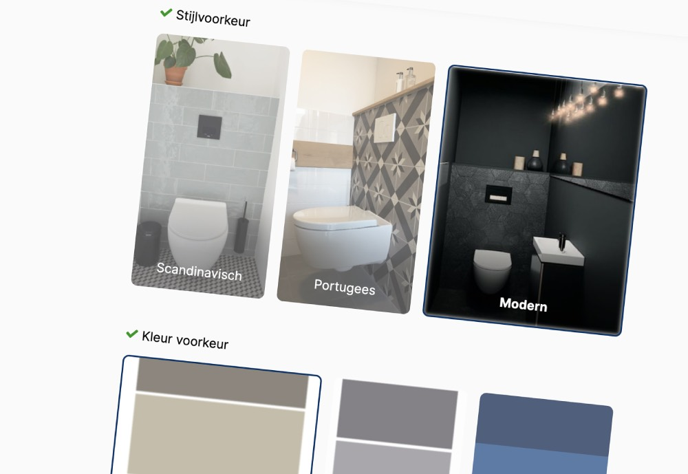 A screenshot of the Toilet Direct rennovation app