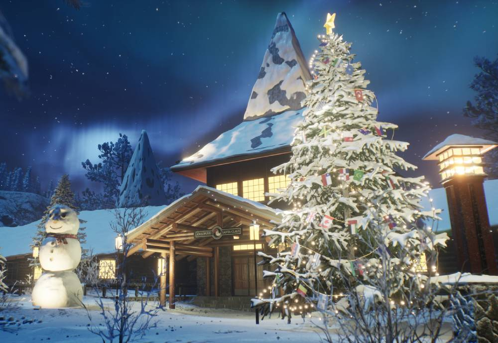 wintery home of Santa Claus