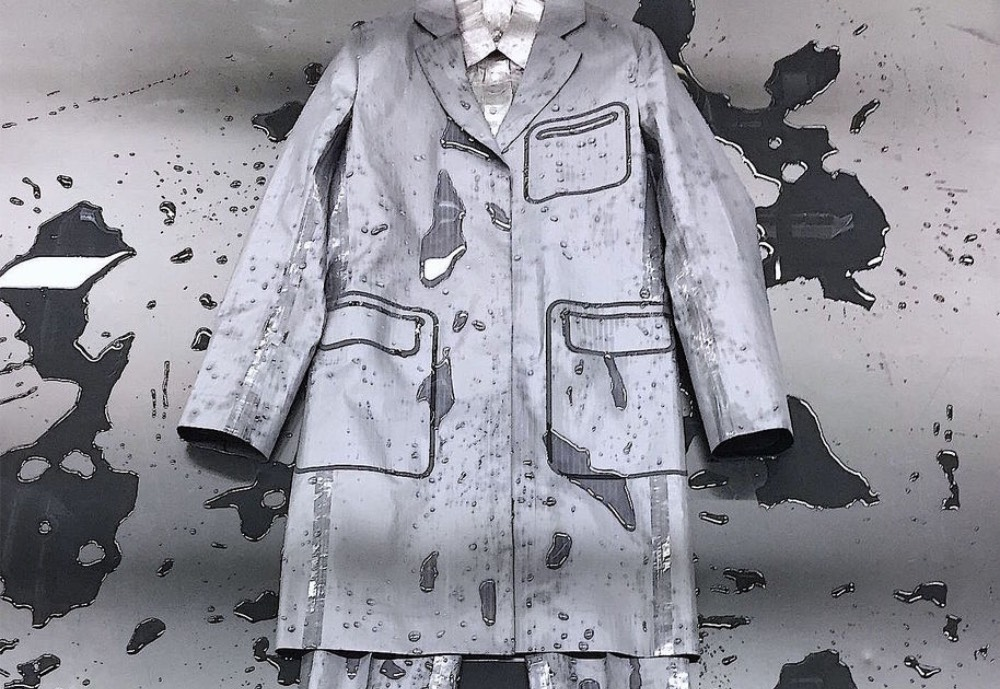 A jacket with paint on it