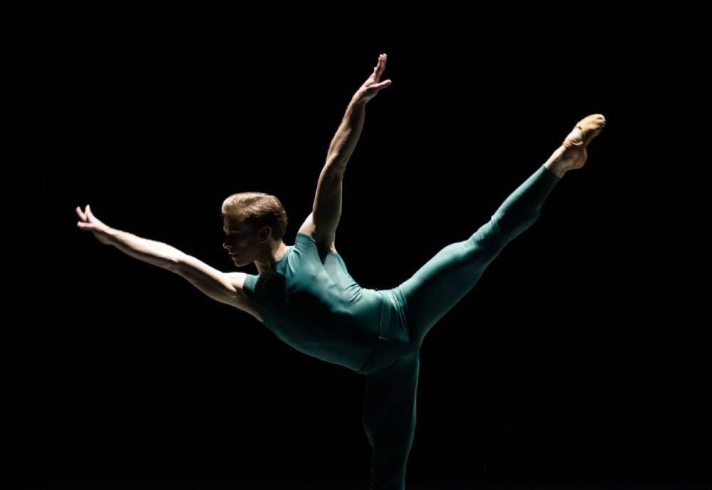 male ballet dancer in the dark
