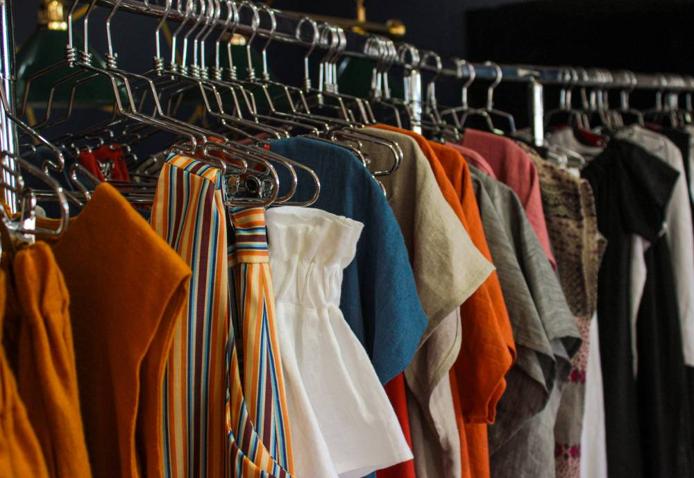 rack of clothes