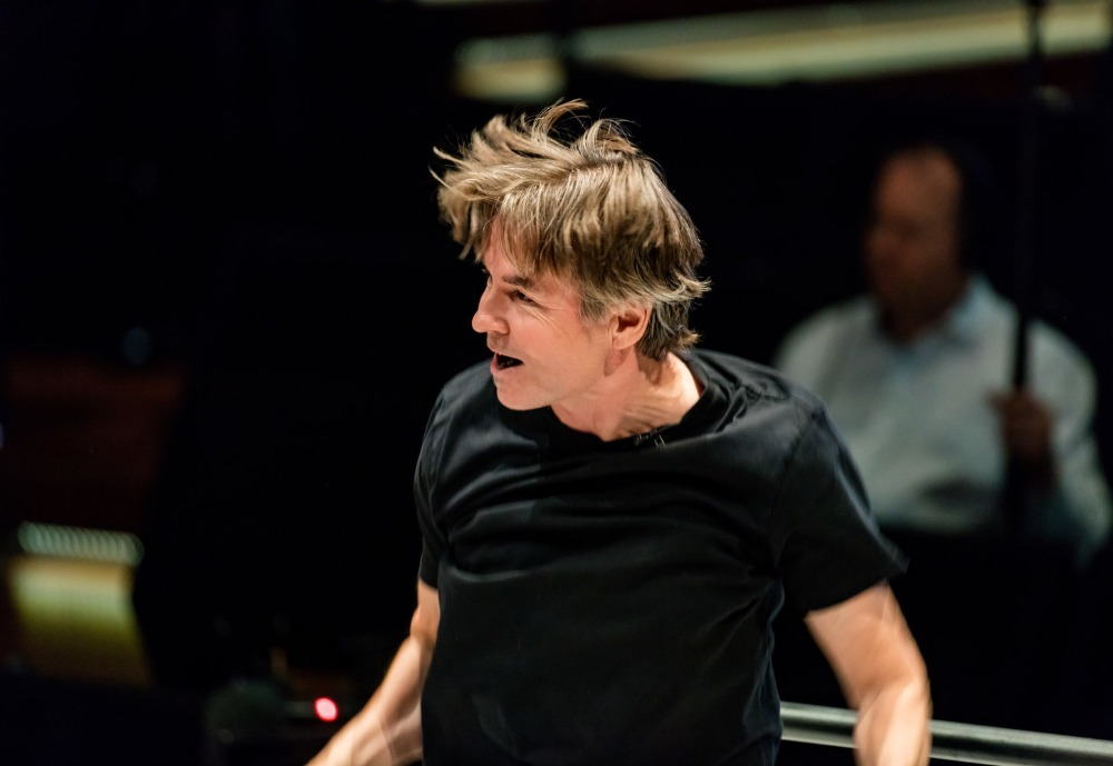 conductor Esa-Pekka Salonen on stage
