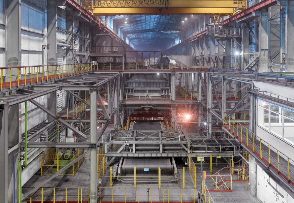 A mining industrial plant