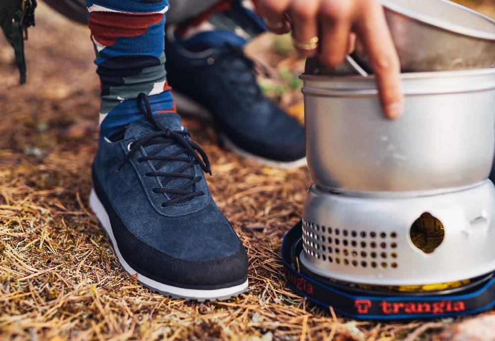 Outdoor cooking and sneakers