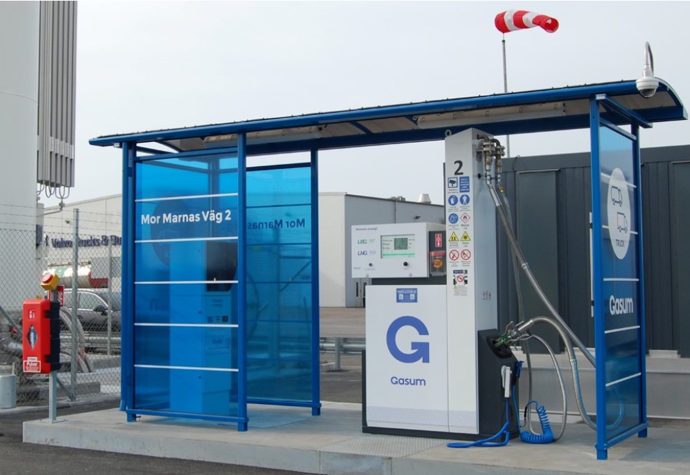A gas filling station