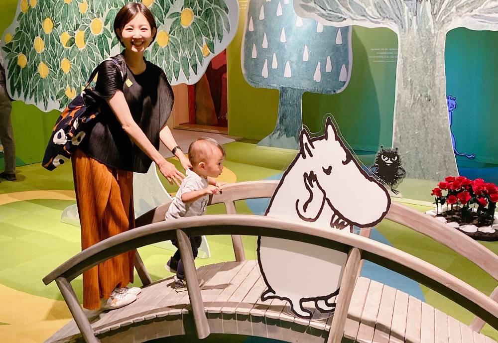 Ivy Chu and child at Moomin Museum