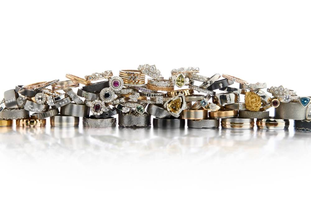 A pile of rings