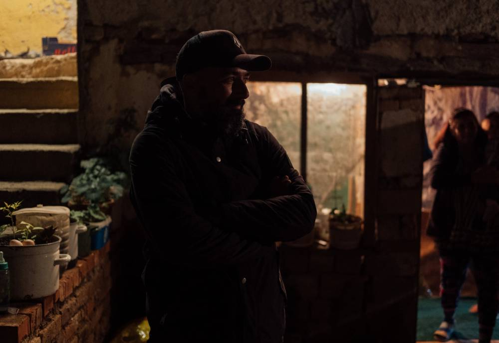 Director Tonislav Hristov in the dark