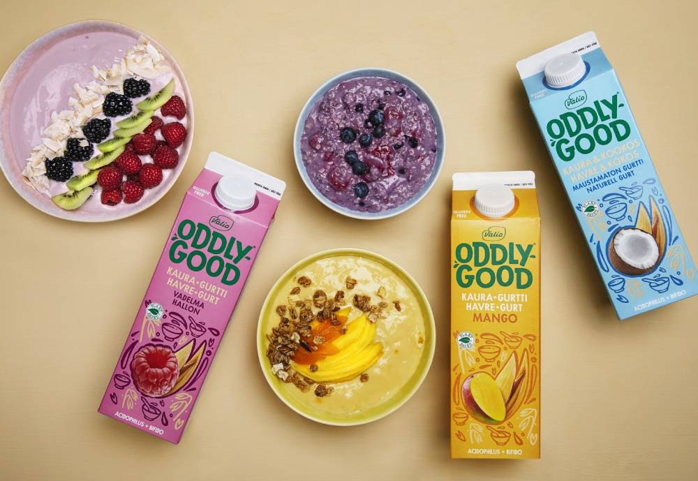 Valio's new plant-based product line items