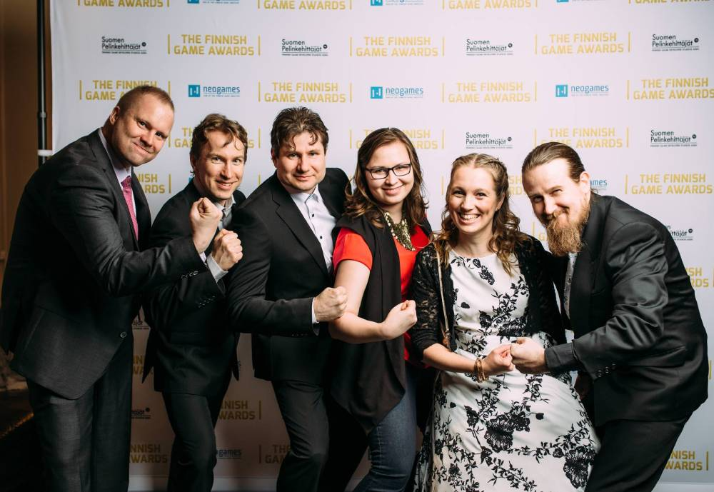 Quicksave Interactive team at the Finnish Game Awards