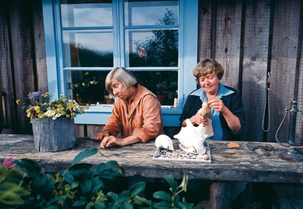 Tove Jansson at her summer cottage