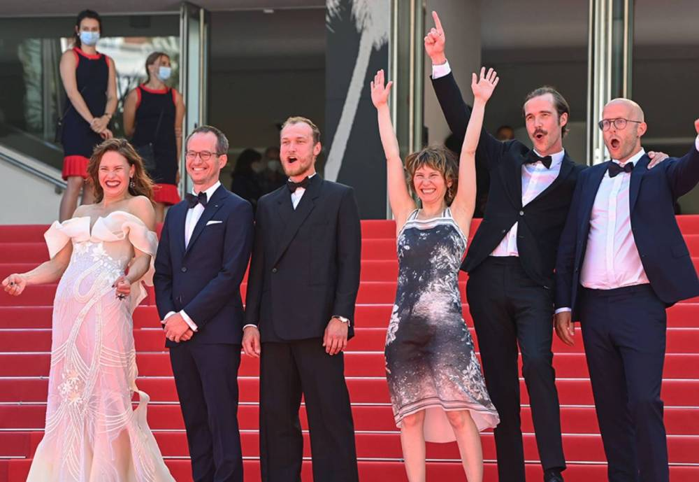 Compartment No.6 crew at Cannes red carpet