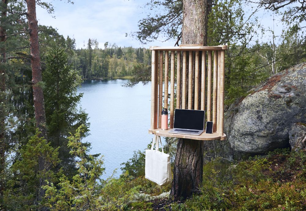 Viita remote working station in a forest