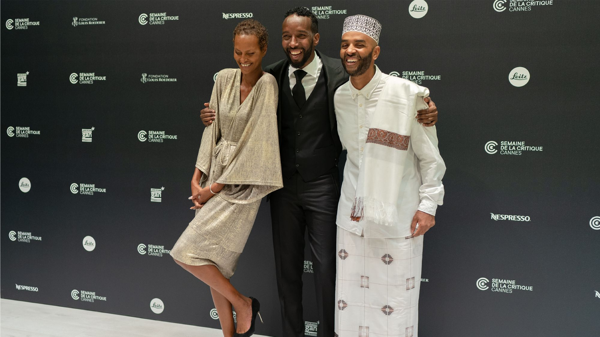 The Gravedigger's Wife actors and director in Cannes